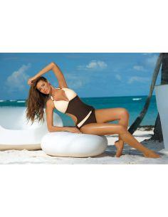 Ženski jednodijelni monokini kupaći kostim Beatrix Moka-Avorio M-337 (7)
