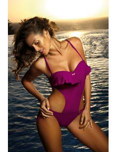 Ženski jednodijelni monokini kupaći kostim Carmen Thai Pink M-468 (5)