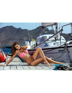 Ženski dvodijelni kupaći kostim Shirley Dark Taupe-Rosella M-455 (3)
