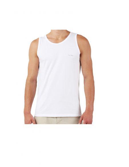 Majica z naramnicami Claudio bela 1-pack