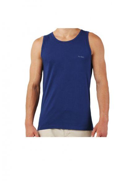 Majica z naramnicami Claudio Temno modra 1-pack
