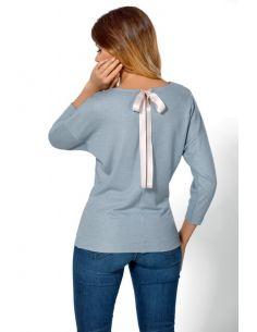 Ženska majica Mia Exclusive svetlo modra