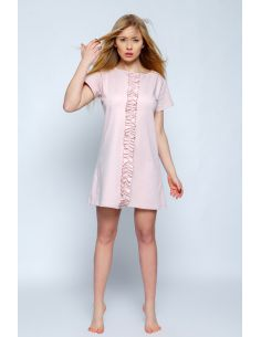 Ženska spalna srajčka Angel svetlo roza