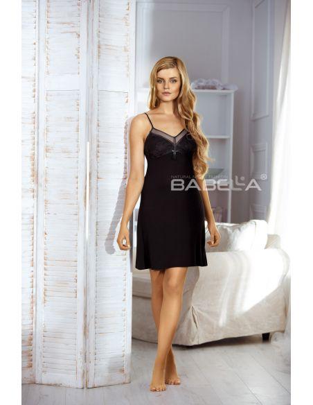 Ženska spalna srajčka Heidi črna