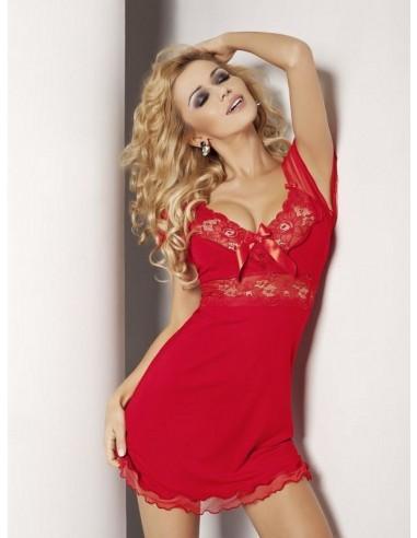 Ženska spalna srajčka Paulina rdeča