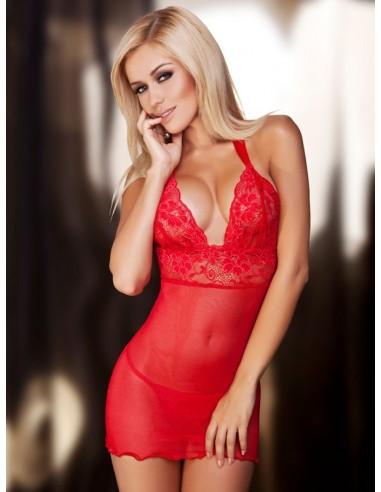 Ženska spalna srajčka Vici rdeča + string hlačke GRATIS!