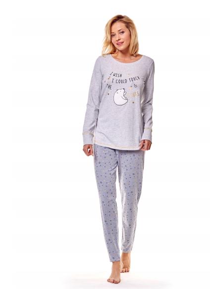 Ženska pižama Mimi 36160-09X siva