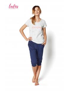 Ženska pižama Raisa 35252-09X siva-modra