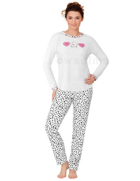 Ženska pižama Veronika 104375 dolgi rokav