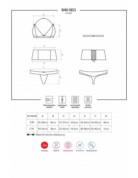 Tridelni komplet sexy perila v darilni embalaži 846_SEG_1