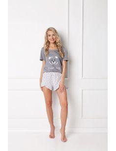 Ženska pidžama Huggy Bear Short siva