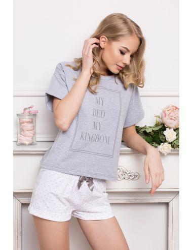 Ženska pižama Kingdom Short Dots & siva