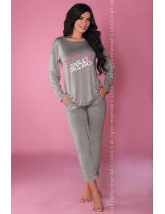 Ženska pidžama Patti 106 siva