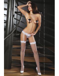 Ženski halter + ćarape Celandine bela