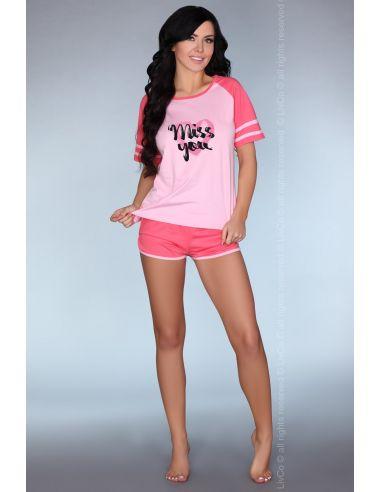 Ženska pižama Ejiroma roza