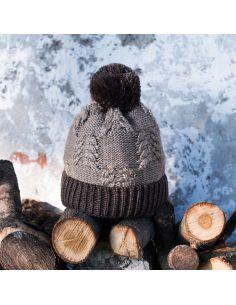 Ženska pletena kapa Mroźny rjava