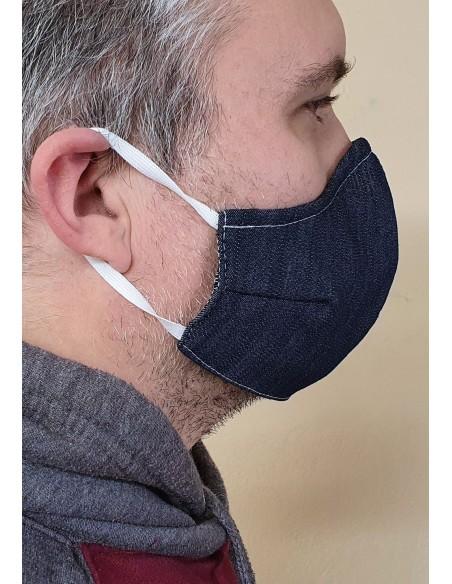 Zaščitna maska - pralna 3 slojna iz jeansa