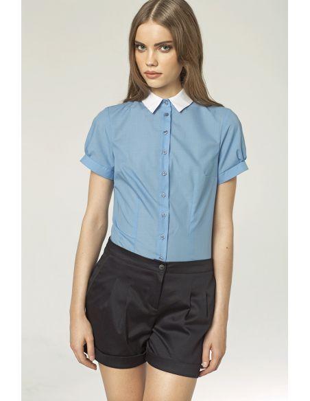 Ženska elegantna srajca z kratkimi rokavi K42