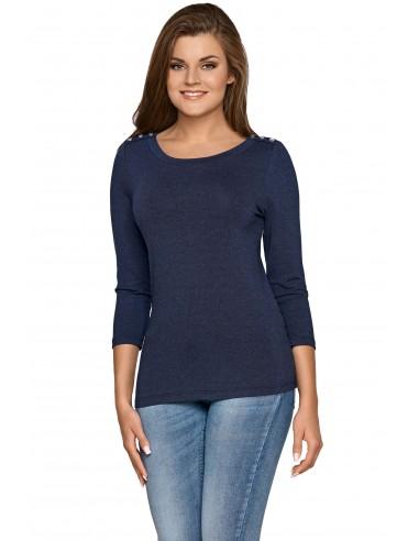 Ženska majica Arcelia temno modra