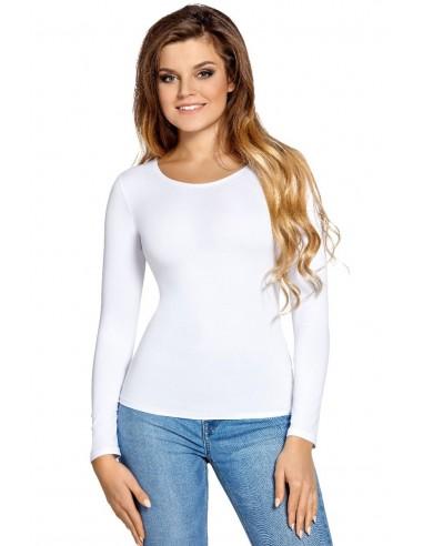Ženska majica Manati dolgi rokav bela