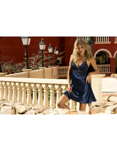 Ženska spalna srajčka Alice temno modra