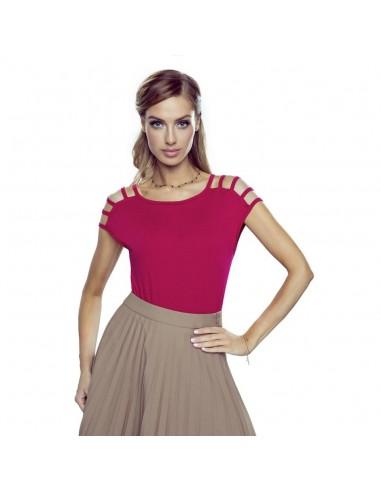 Ženska majica Daria New bordo rdeča