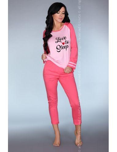 Piżama Malblea roza