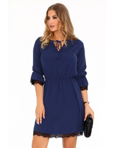 Ženska obleka Shanice Dark Blue