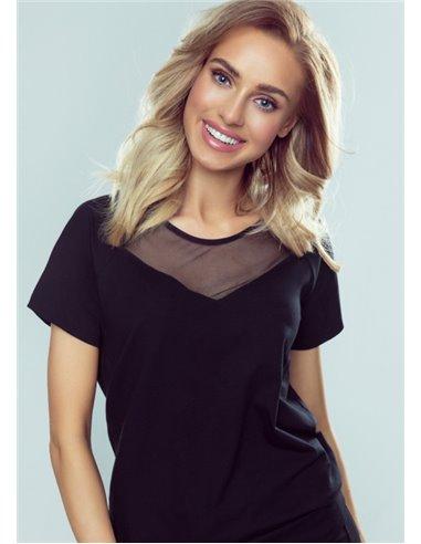 Ženska majica Kika-črna