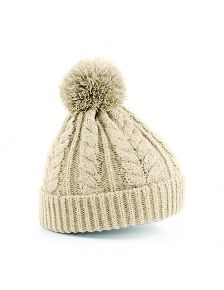 Pletena zimska kapa z cofom B454