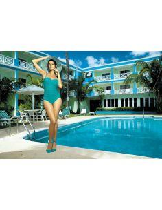 Ženski kupaći kostim Gabrielle M-123 -41- Morska zelena