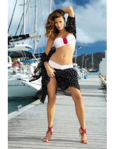 Ženski kupaći kostim Carine M-187 bijela-crna -2-