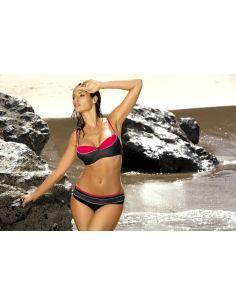 Ženski kupaći kostim Carla Red Coat M-197 crna-crvena -99-