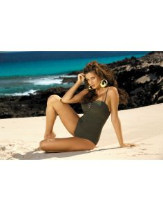 Ženski kupaći kostim Melanie Selva M-203 Kaki -63-