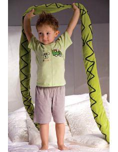 Otroška pižama Samuel 2973 sivo-zelena