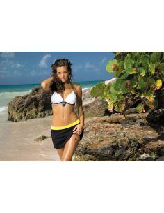 ženska suknja Meg Nero-Primula M-266 črno-rumena (218)