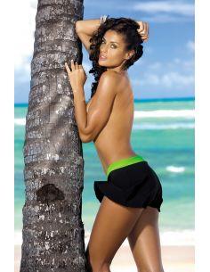 ženska suknja Meg Nero-Smile M-266 črno-zelena (218)