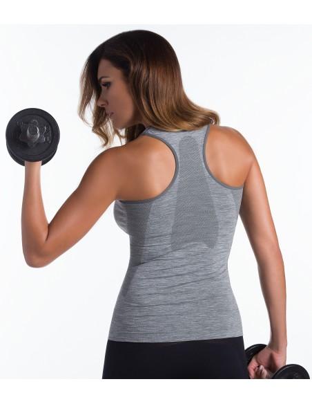 Ženska športna majica Active fit - melirana