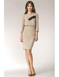 Ženska haljina s dugim rukavima S38