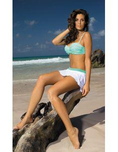 Kupaća suknja Meg Bianco-Maldive M-266 bijela-zelena (307)
