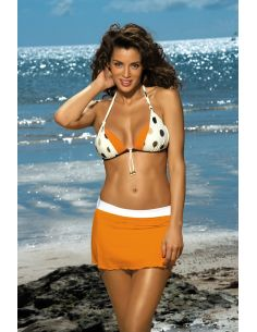 Kupaća suknja Meg Incas-Bianco M-266 narančasta-bijela (296)